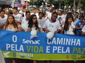 Senac uniu forças à Caminhada pela Paz e II Semana Nacional da Aprendizagem